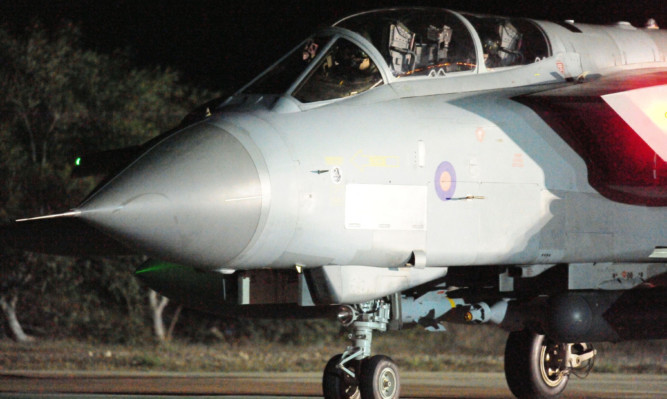 RAF Akrotiri in Cyprus, as RAF jets at the base continue bombing runs over Syria.