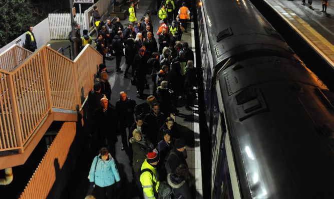 Many more people are taking trains from Fife as the Forth Road Bridge remains closed.