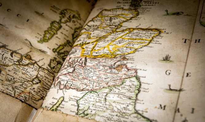 The maps showed how people viewed the world in the 1600s.