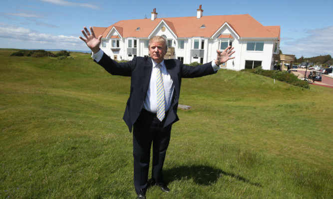 Donald Trump: multi-million investment in the Ailsa Course and the famous hotel at Turnberry.
