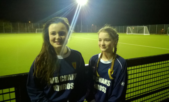 Future stars: Kara, left, and Suzanne are among the youngest players to have made the squad.
