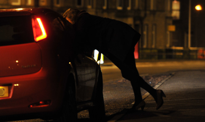 Kim Cessford - 14.01.13 - pictured for series on vice is a mock scene of a street prostitute