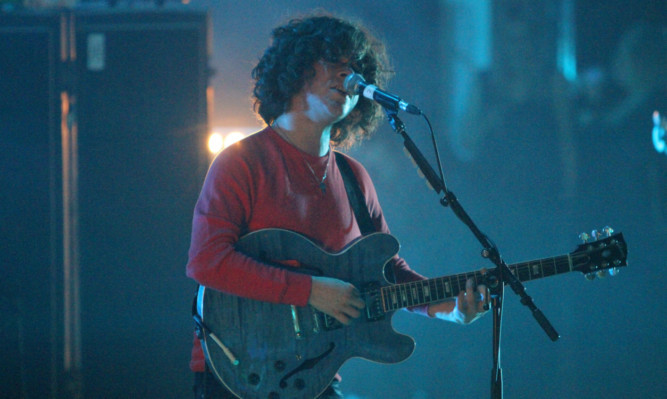 The View frontman Kyle Falconer on stage at the Caird Hall.