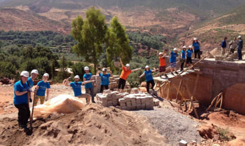The students helped with all aspects of on-site labour.