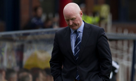 05/05/13 CLYDESDALE BANK PREMIER LEAGUE DUNDEE v ABERDEEN (1-1) DENS PARK - DUNDEE Dundee manager John Brown cuts a dejected figure on the touchline