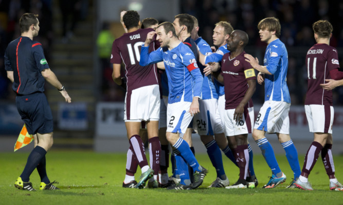 It gets heated at McDiarmid before Juanma's red card.