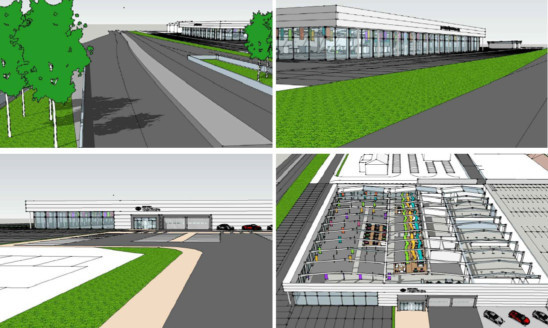 An indoor cafe and childrens zones are part of the companys plans for the site.