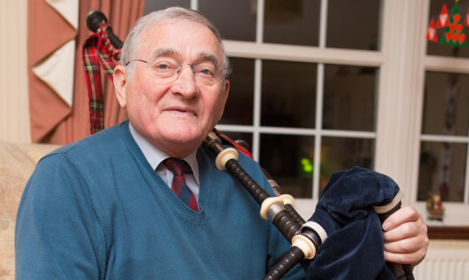 Pipe Major Jim Banks from Markinch was awarded the MBE for services to bagpiping and the local community.