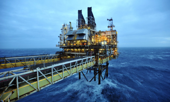 BP's ETAP oil platform in the North Sea