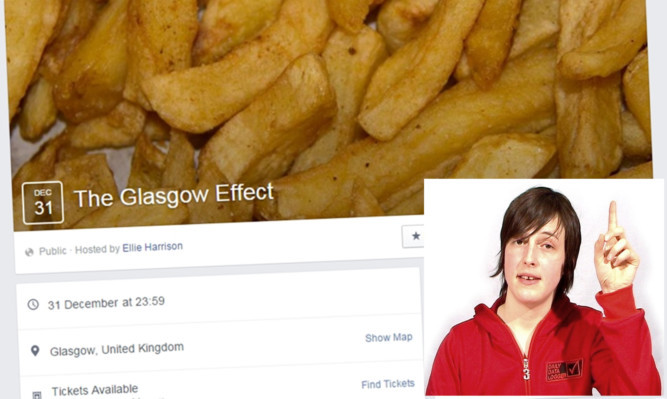 The Glasgow Effect project by Elle Harrison (inset) has faced some criticism.