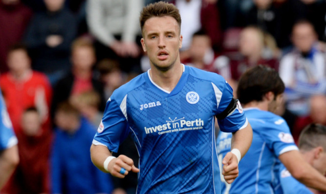 Brad McKay in action for St Johnstone.