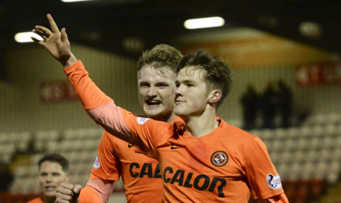 Blair Spittal celebrates scoring against Airdrie.