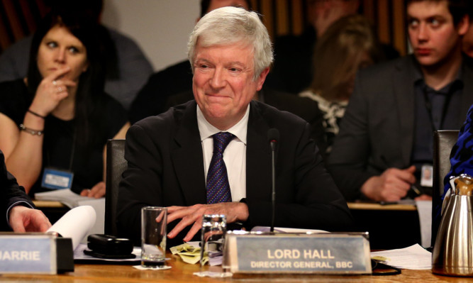 Lord Hall in front of Holyrood's education and culture committee.