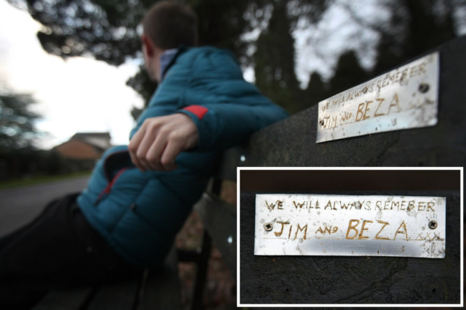 A crude memorial (inset) has replaced the one dedicated to Robs brother in Balgay Cemetery.