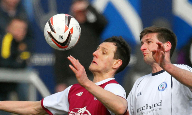 Chris Templeman in action for Forfar.