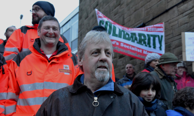 Postal workers took strike action again in support of David Mitchell, who was dismissed in December 2014.
