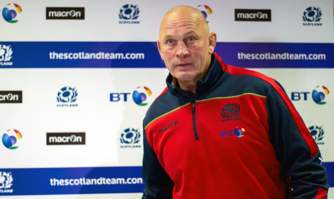 Vern Cotter takes his seat at BT Murrayfield to name his Scotland Six Nations squad.