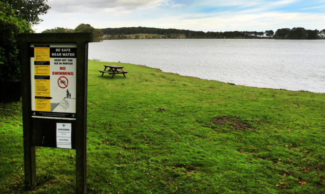 The dog died after slipping through ice at Monikie Country Park