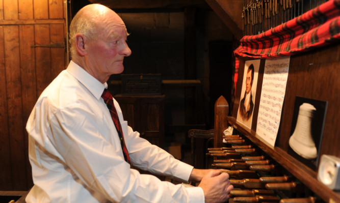 Perth Carillonneur Dr Ian Cassells plays popular Burns music on the bells of St John's Kirk.