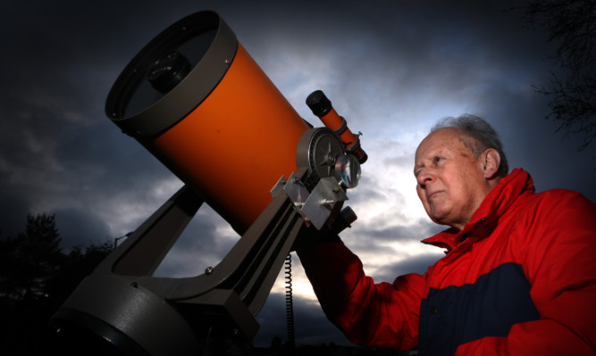 Amateur astronomer Ken Kennedy of Broughty Ferry