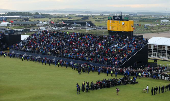 Crowds at the last Open at St Andrews.