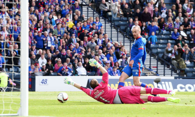 James Vincent scores the winner for Inverness in last season's final.