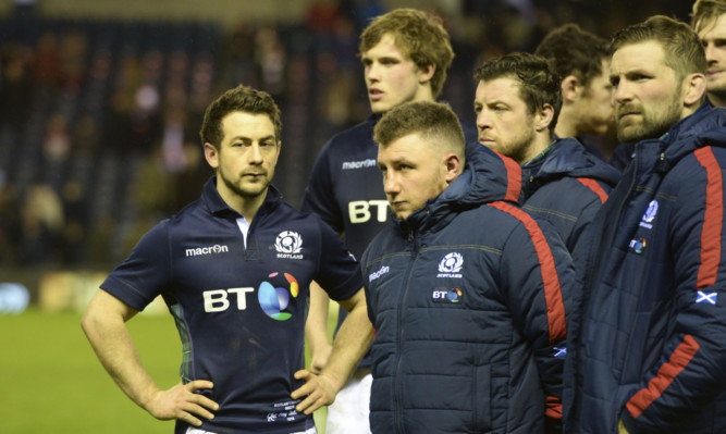 Captain Greig Laidlaw and his team contemplate an eighth successive 6 Nations loss against England.
