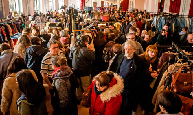 Thousands attended Sunday's vintage fair.