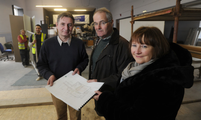 The Strathearn Artspace committee David Campbell, Simon Pengelley and Ruth Williams.