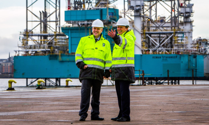 Dundee Port Manager David Webster with Charles Hammond, chief executive of Forth Ports.