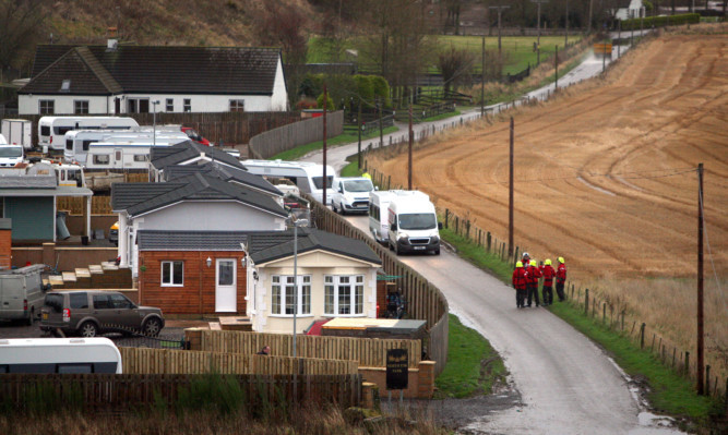 The Travellers site at St Cyrus is at risk to flooding.