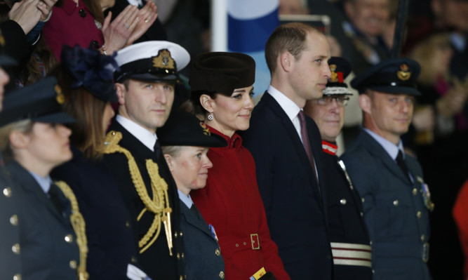 Catherine, Duchess of Cambridge and Prince William, Duke of Cambridge attend a ceremony marking the end of RAF Search and Rescue (SAR) Force operations.