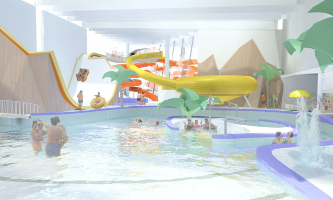 An artist's impression of the PH2O leisure pool.