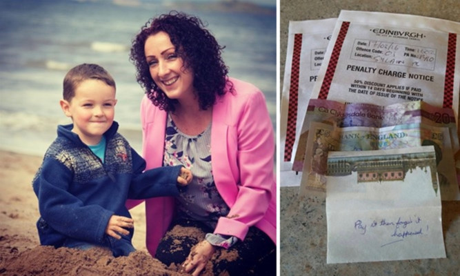 Mairi, pictured with Oscar, had her parking tickets paid for her by an anonymous Good Samaritan.