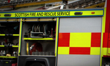 Firefighters were called to the fire just after noon.