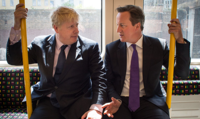 Getting off at the next stop: Boris Johnson has disappointed Mr Cameron and backed a British exit from the EU.