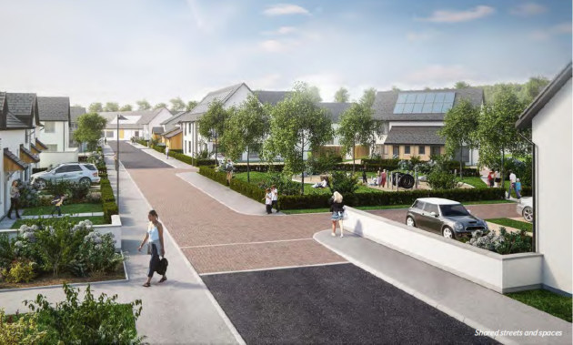An artist's impression of the kind of housing envisioned in the city plan.