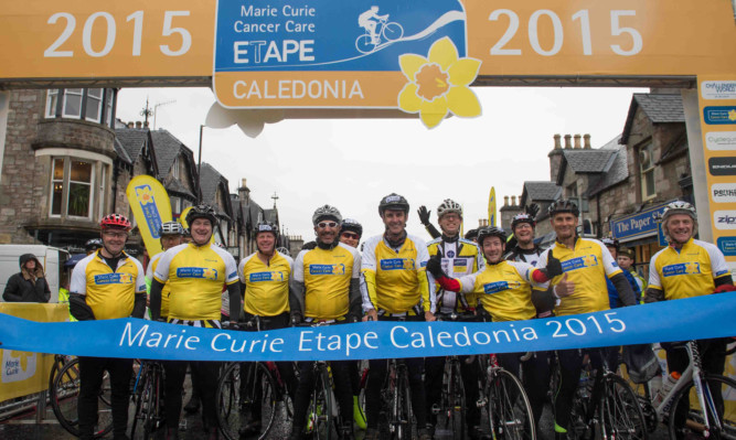 Some of the members of the 2015 Marie Curie team at the Etape Caledonia.