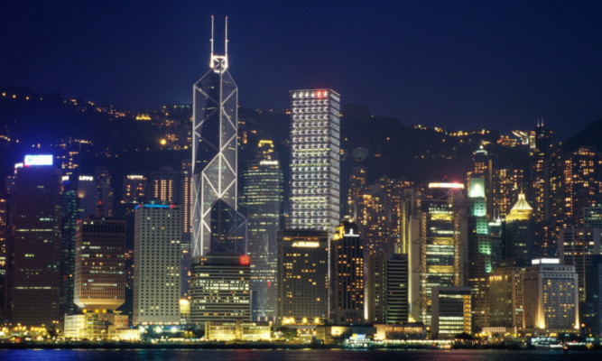 The skyline of Hong Kong, a place England may try to emulate if it becomes independent of the EU  and Scotland.