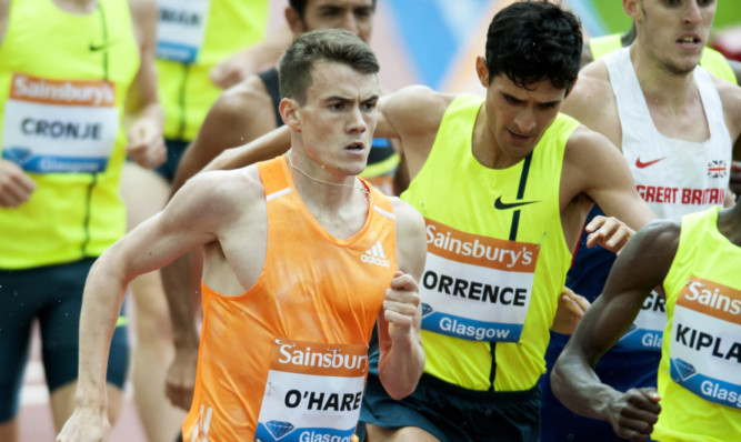 Chris OHare will be in the mix for the 1,500m at the British Indoor Championships this weekend.