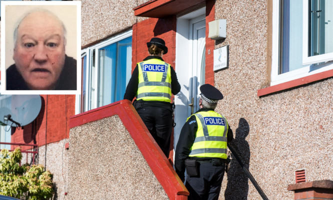 Police have been carrying out door-to-door enquiries in Appin Terrace  as they search for Robert McLaren.