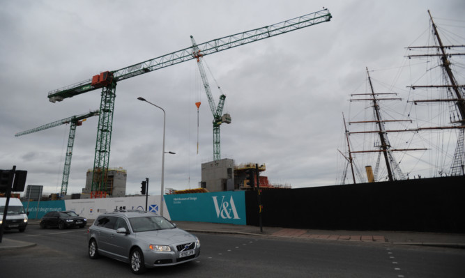 The V&A museum is starting to take shape at Dundee waterfront.