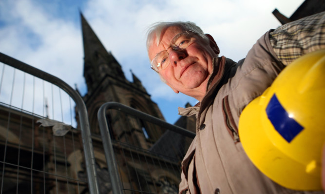 Project coordinator Tom Morrison outside St Matthews Church in Perth.
