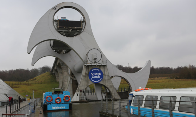 The Falkirk Wheel opened in 2002.