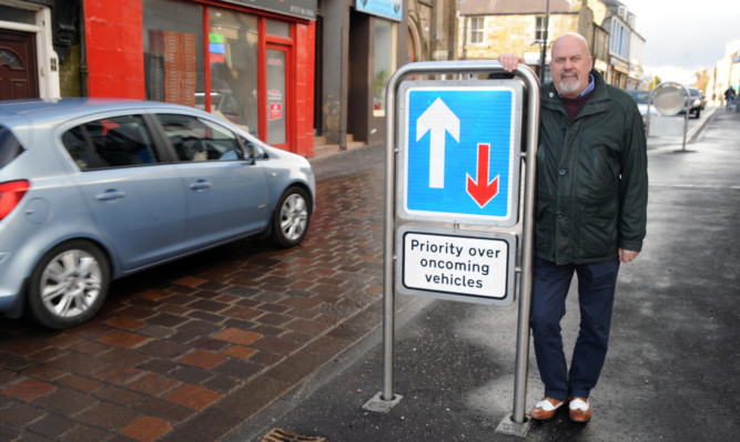 Vice-chair of Kinross Community Council David MacKenzie at Kinross High Street.