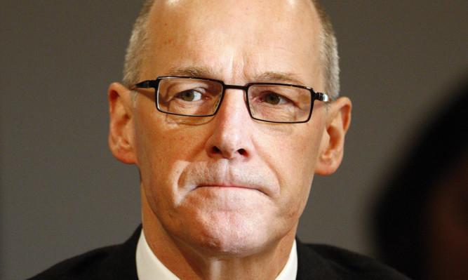 John Swinney during the negotiations on the fiscal framework.