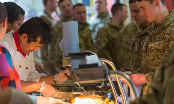 Leuchars Station held a lunch to raise fund for the families of Leuchars-based Fijian soldiers whose villages were wiped out by Cyclone Winston.