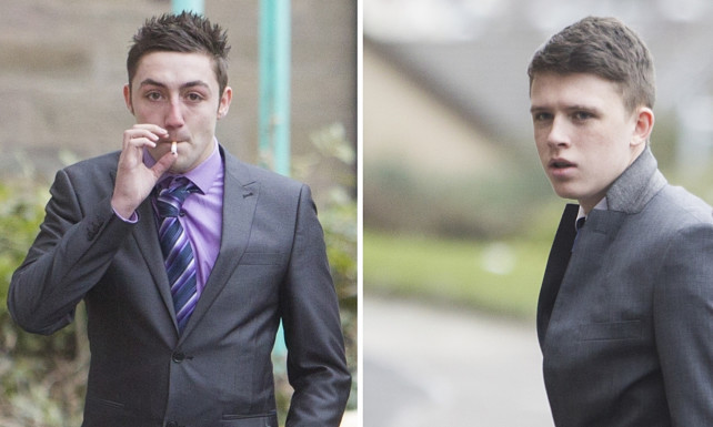From left: Joshua Bell and Jordan Kennedy both pled guilty at Forfar Sheriff Court.