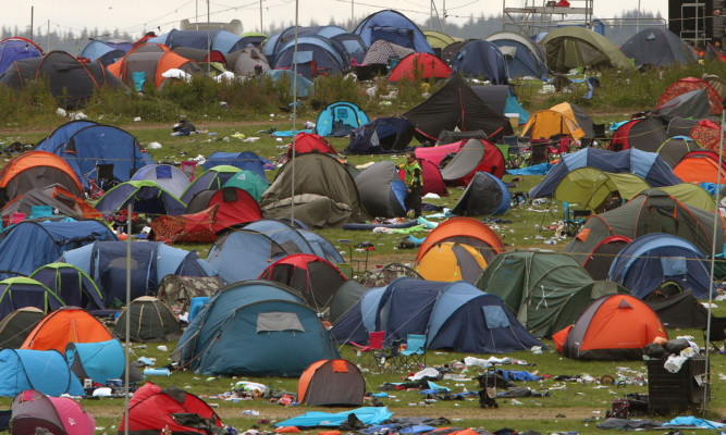 Foley attacked his victim at the T in the Park campsite.
