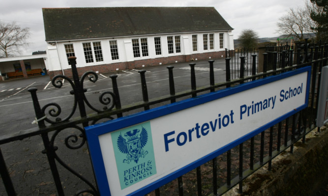 Forteviot Primary, one of the schools whose condition has deteriorated.